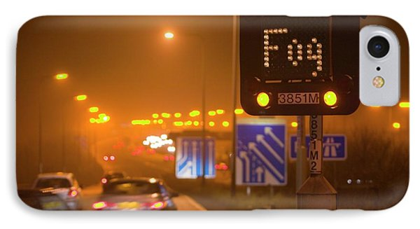 Cars Driving On The M1 Motorway IPhone Case by Ashley Cooper