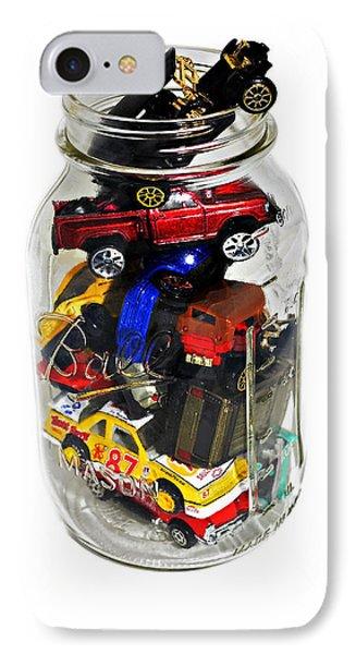 Cars In A Jar Phone Case by Susan Leggett
