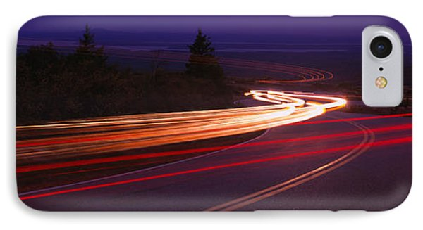 Cars Moving On The Road, Mount Desert IPhone Case by Panoramic Images