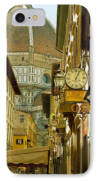 Cars Parked In A Street IPhone Case by Panoramic Images