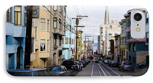 Cars Parked On The Street, Transamerica IPhone Case by Panoramic Images