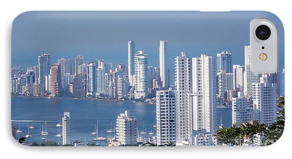 Cartagenha Columbia In A Distance IPhone Case by Gena Weiser