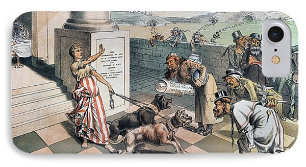 Cartoon Immigration, 1885 IPhone Case by Granger