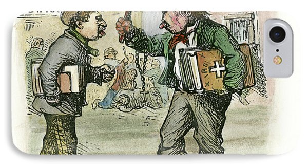 Cartoon Parochial Schools, 1870 IPhone Case by Granger