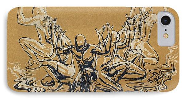 Carved Men Phone Case by Maria Arango Diener