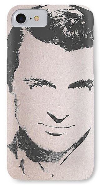 IPhone Case featuring the painting Cary Grant by Cherise Foster
