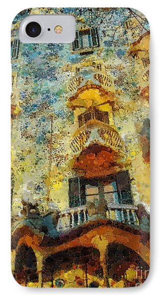 Casa Battlo IPhone Case by Mo T