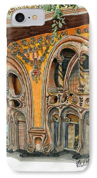 Casa Comolat Barcelona Spain Phone Case by Paul Guyer