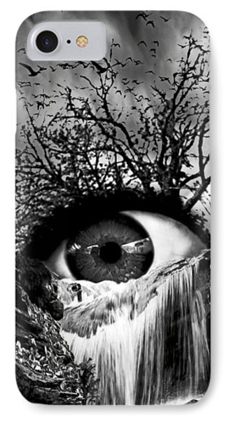 Cascade Crying Eye Grayscale IPhone Case