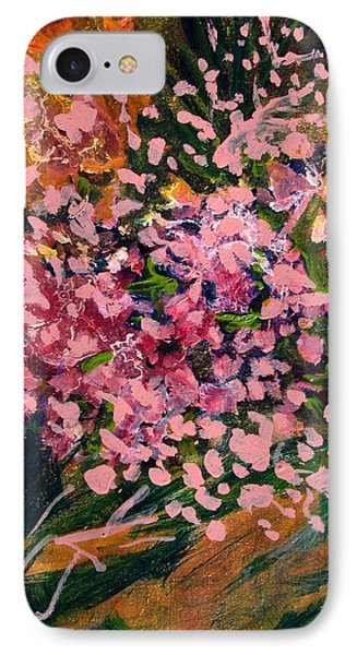 Cascade Of Pink Blossums IPhone Case by Betty Pieper