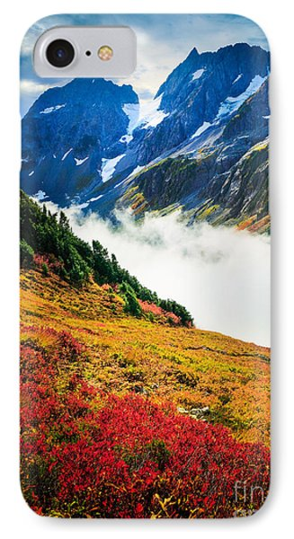 Cascade Pass Peaks IPhone 7 Case by Inge Johnsson