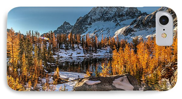 Cascades Ring Of Larches Phone Case by Mike Reid