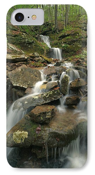 Cascading Creek Mulberry River Arkansas IPhone Case by Tim Fitzharris