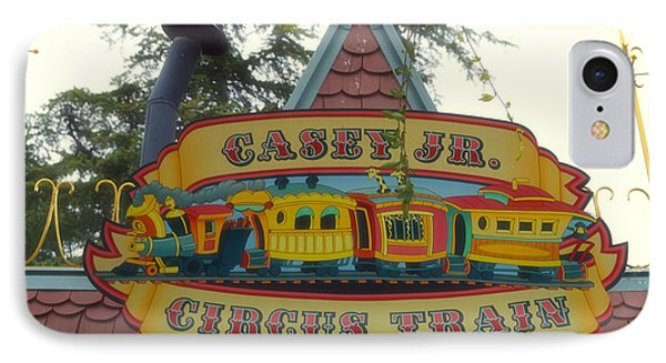 Casey Jr Circus Train Fantasyland Signage Disneyland IPhone Case by Thomas Woolworth