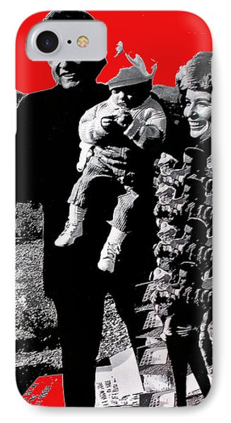 IPhone Case featuring the photograph Cash Family In Red Old Tucson Arizona 1971-2008 by David Lee Guss