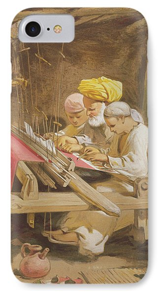Cashmere Shawls Weaving, 1863 IPhone Case