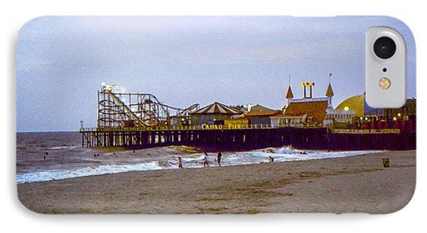IPhone Case featuring the photograph Casino Pier Boardwalk - Seaside Heights Nj by Glenn Feron