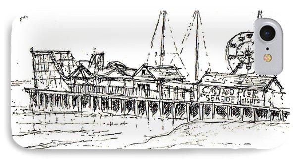 Casino Pier In Seaside Heights Nj IPhone Case
