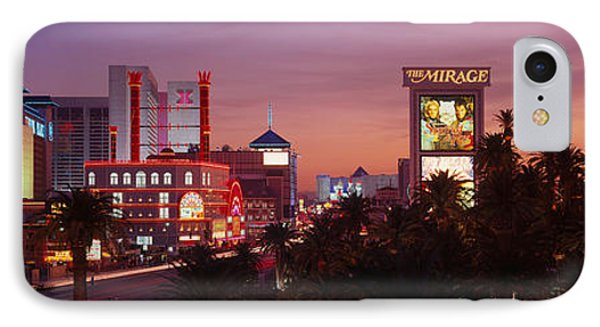 Casinos At Twilight, Las Vegas, Nevada IPhone Case by Panoramic Images