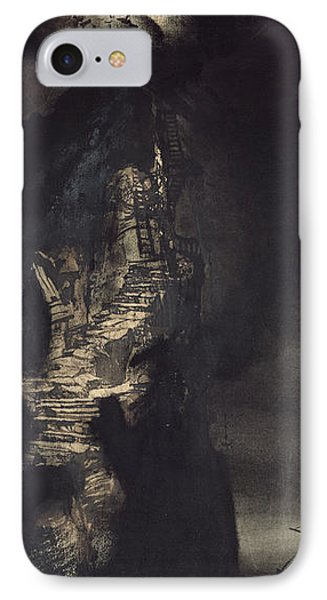 Casquets Lighthouse IPhone Case by Victor Hugo