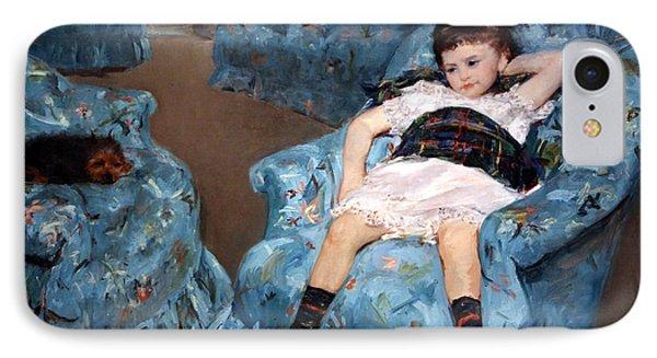 Cassatt's Little Girl In A Blue Armchair IPhone Case