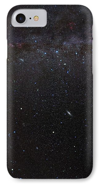 Cassiopeia Constellation And Andromeda IPhone Case by Eckhard Slawik