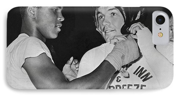 Cassius Clay And Johansson IPhone Case by Underwood Archives