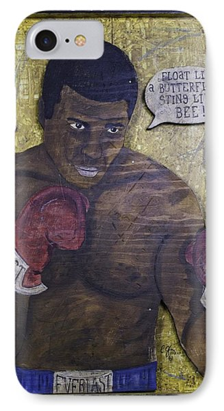 Cassius Clay - Muhammad Ali IPhone Case by Eric Cunningham