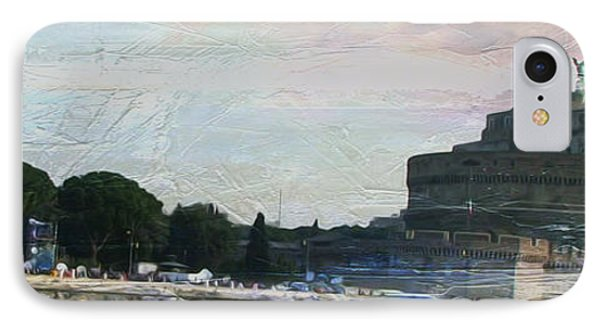 IPhone Case featuring the painting Castel Sant'angelo     by Brian Reaves