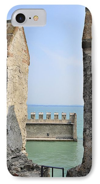 Castello Scaligero Castle Sirmione Italy IPhone Case by Matthias Hauser