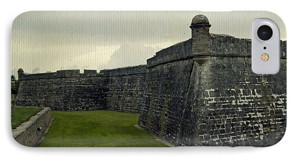 Castillo San Marcos 5 Phone Case by Laurie Perry