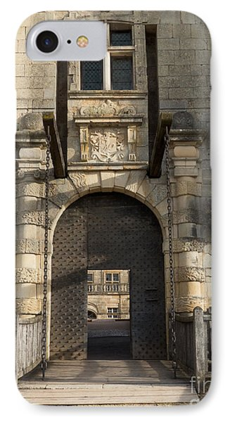 IPhone Case featuring the photograph Castle Drawbridge Entry by Paul Topp