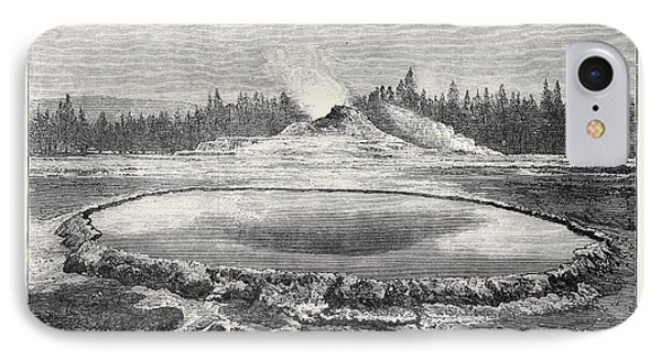 Castle Geyser And Hot Spring Montana North America 1873 IPhone Case by English School