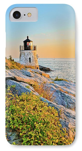 Castle Hill Lighthouse 1 Newport IPhone Case by Marianne Campolongo