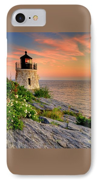 Castle Hill Lighthouse-rhode Island Phone Case by Thomas Schoeller