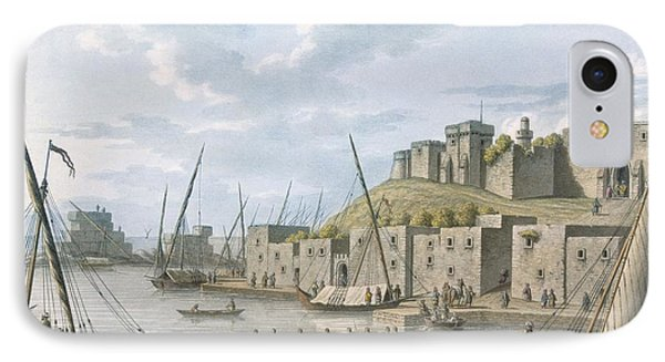 Castle In The Island Of Tortosa, 1805 IPhone Case by William Watts