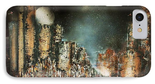 Castle Moonrise Phone Case by Kaye Miller-Dewing