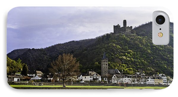 Castle On Hill Above Town IPhone Case
