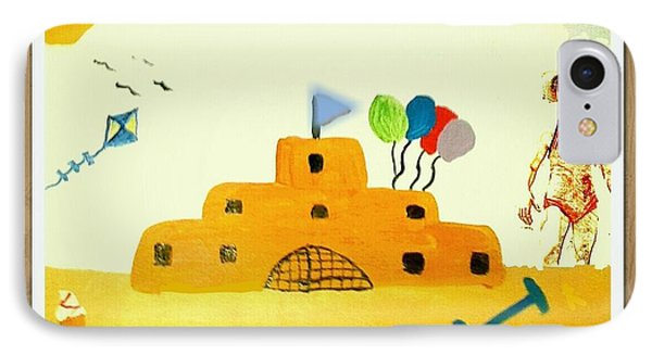 Castle On The Beach IPhone Case by Julie Dunkley