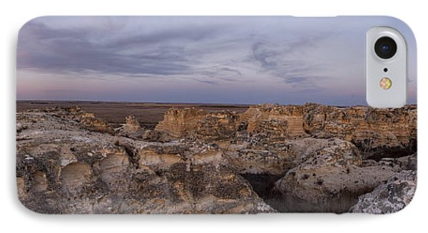 Castle Rock Badlands Pano IPhone Case by Scott Bean