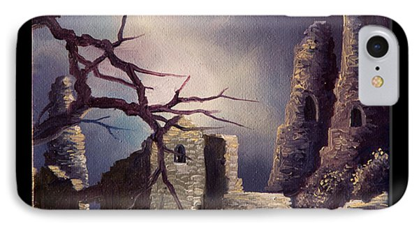 Castle Ruins Iv IPhone Case by James Christopher Hill