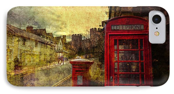 Castle Steet Conwy Phone Case by Mal Bray
