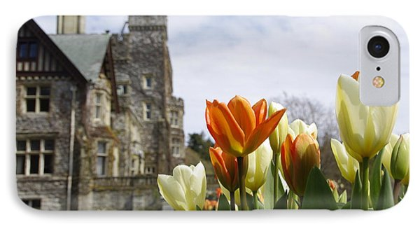 IPhone Case featuring the photograph Castle Tulips by Marilyn Wilson