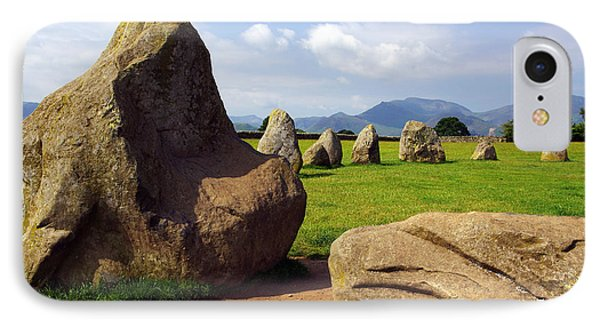Castlerigg England IPhone Case by Graham Hawcroft pixsellpix