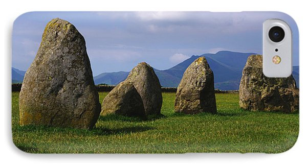 Castlerigg Keswick IPhone Case by Graham Hawcroft pixsellpix
