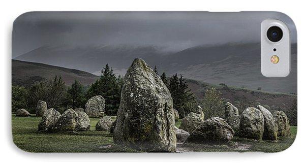 Castlerigg Stone Circle IPhone Case by Chris Fletcher