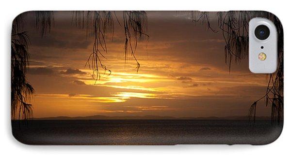 Casuarina Sunset 2 IPhone Case by Carole Hinding