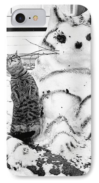 Cat And Snowcat Phone Case by Jack Rosen