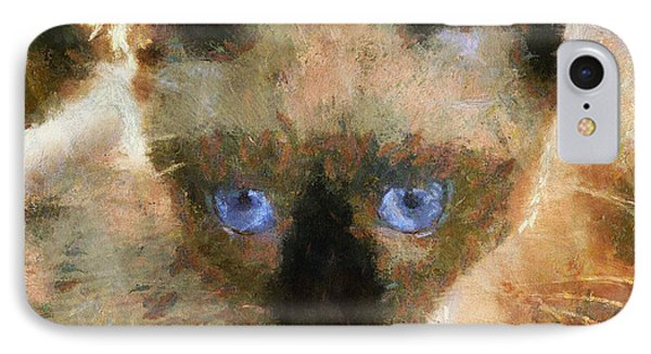Cat Blue Eyes Phone Case by Yury Malkov