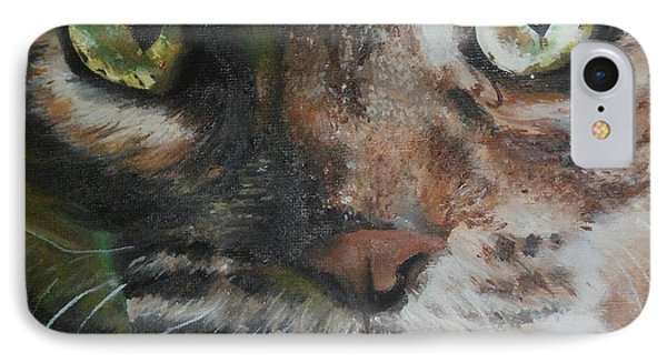 IPhone Case featuring the painting CaT by Cherise Foster